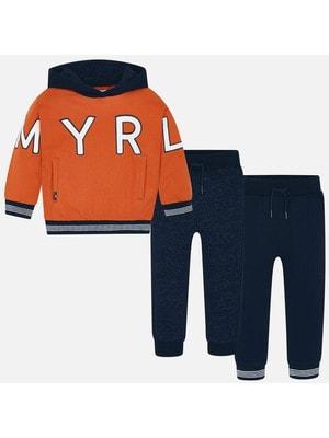 Костюм Спортивний, Пуловер помаранчевий + штани 2 шт., Темно-синій, Mayoral Іспанія, 20OZ