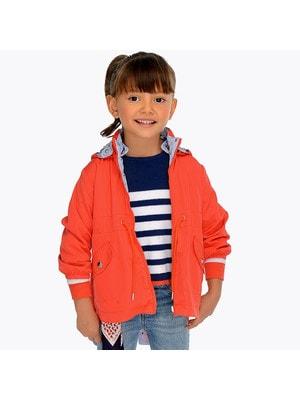 Куртка, Парка двостороння, з капюшоном, Кораловий, Mayoral Іспанія, 19VL