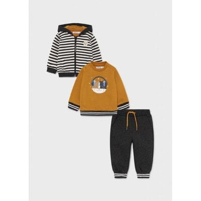 Комплект Спортивний, Кофта + пуловер + штани, Темно-сірий, Mayoral Іспанія, 22OZ