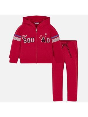 Комплект, Кофта + штани (з паєтками), Червоний, Mayoral Іспанія, 19VL