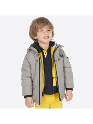 Куртка, з капюшоном, Сірий, Mayoral Іспанія, 20OZ