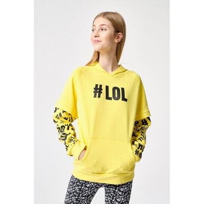 Пуловер, з капюшоном, Жовтий, Reporter young Польща, 21OZ