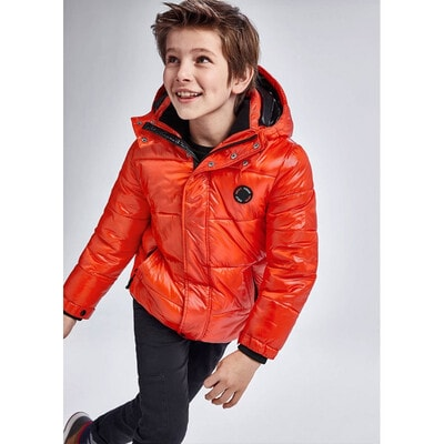 Куртка, з капюшоном, утеплена, Помаранчевий, Mayoral Іспанія, 22OZ