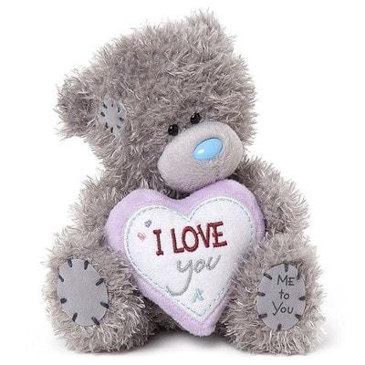 Іграшка М'яка, Ведмедик Тедді з серцем I Love You, 18 см, Me To You Великобританія
