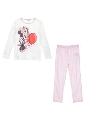 Піжама, серія Disney  MINNIE Джемпер + рожеві штани в горошок, Білий, Sun City Франція, 21OZ