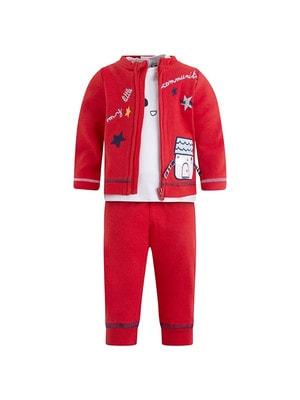 Комплект Спортивний, Кофта + білий джемпер + штани (будинок), Червоний, TucTuc Іспанія, 20OZ