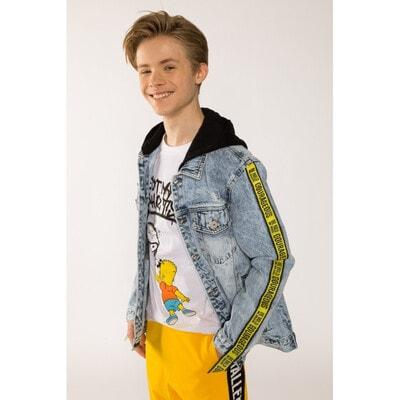 Піджак, джинсовий, з чорним капюшоном, Синій, Reporter young Польща, 21VL