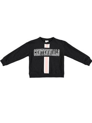 Пуловер, сріблястим CENTENNIALS, Чорний, iDO Італія, 19VL
