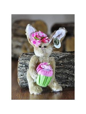 Іграшка М'яка, Зайчиха з бантиком на голові та з тістечком, 25 см, Me To You Великобританія