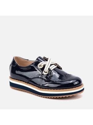 Туфлі, закриті, лаковані, Темно-синій, Mayoral Іспанія, 20OZ
