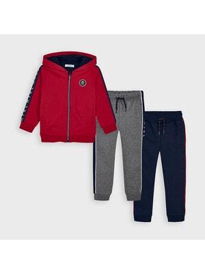Комплект Спортивный, Кофта + штаны 2 шт. (Синие, серые), Красный, Mayoral Испания, 21OZ