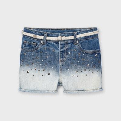 Шорти, джинсові (зірочки), Синій, Mayoral Іспанія, 21VL