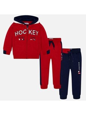 Комплект Спортивный, Кофта + штани 2 шт. (1 сині), Червоний, Mayoral Іспанія, 20OZ