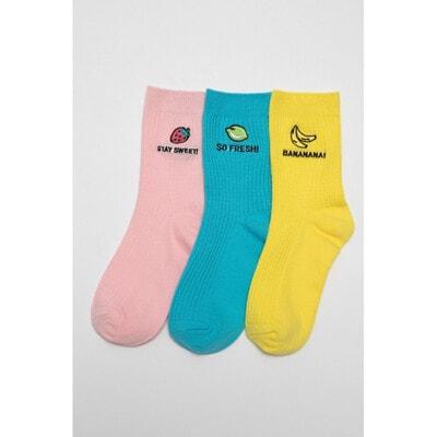 Шкарпетки, 3 пари Жовтий, Синій, Рожевий, Reporter young Польща, 21VL