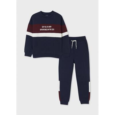Комплект Спортивний, Пуловер + штани, утеплений, Темно-синій, Mayoral Іспанія, 22OZ