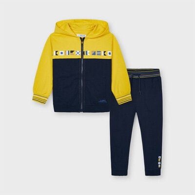 Комплект Спортивний, Кофта + темно-сині штани, Жовтий, Mayoral Іспанія, 21VL