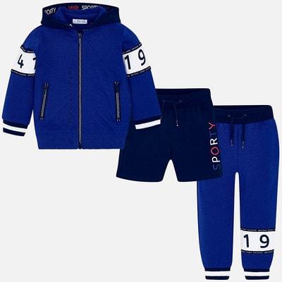 Комплект Спортивный, Кофта + штани + шорти, Синій, Mayoral Іспанія, 19VL