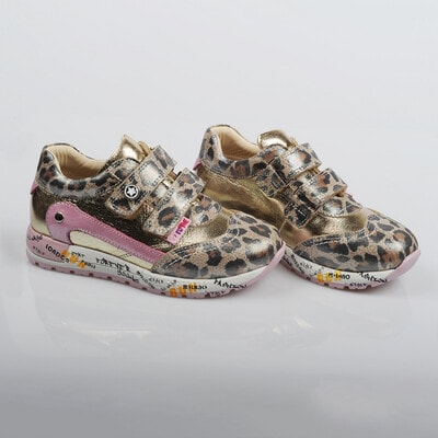 Кросівки, леопардові (золотиста з рожевим вставка), Коричневий, Dr.Mymi Orthopedic Туреччина, 21OZ