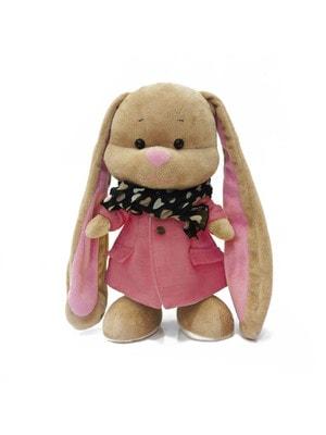 Игрушка Мягкая, Зайка Лин в розовом пальто и шарфике, 25 см, 3+, Jack Lin КНР
