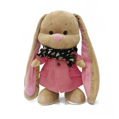 Іграшка М'яка, Зайка Лін в рожевому пальто та шарфику, 25 см, 3+, Jack Lin КНР