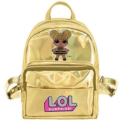 Рюкзак міні з голографічним ефектом L.O.L DOLL, Золотий, MGA США, 20VL