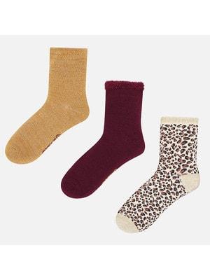 Шкарпетки, 3 пари, Бордовий, Mayoral Іспанія, 19OZ