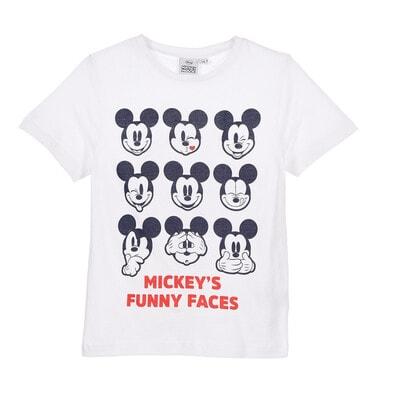 Футболка, MICKEY`S FUNNY FACES, Білий, Disney Іспанія, 20VL