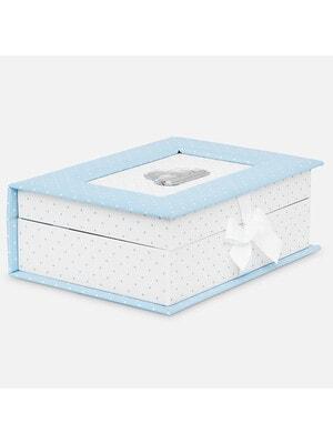 Аксесуари, Коробка для сувенірів новонародженого (перший зуб, перше волосся, перші носочки) та інші памятні речі., Блакитний, Mayoral Іспанія, 20VL