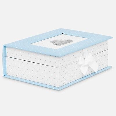 Аксессуары, Коробка для сувениров новорожденного (первый зуб, первое волос, первые носочки) и другие памятные вещи., Голубой, Mayoral Испания, 20VL