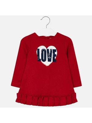 Сукня, довгий рукав  (LOVE), Червоний, Mayoral Іспанія, 20OZ