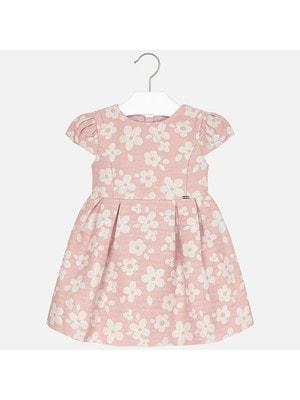 Сукня, короткий рукав  (квіти з люрексом), Рожевий, Mayoral Іспанія, 20OZ