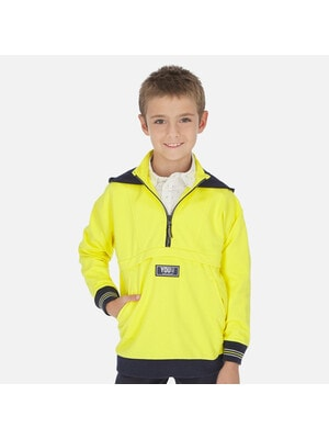Пуловер, з капюшоном, Жовтий, Mayoral Іспанія, 20VL