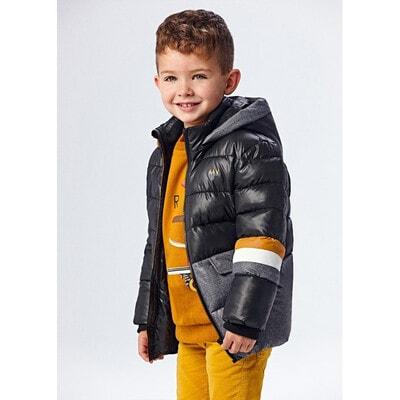 Куртка, з капюшоном, утеплена, Чорний, Mayoral Іспанія, 22OZ