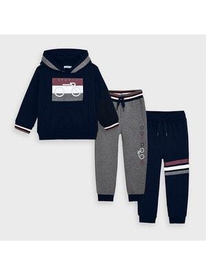 Комплект Спортивный, Пуловер + штаны 2 шт. (1- серые), Темно-синий, Mayoral Испания, 21OZ