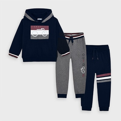 Комплект Спортивний, Пуловер + штани 2 шт. (1- сірі), Темно-синій, Mayoral Іспанія, 21OZ