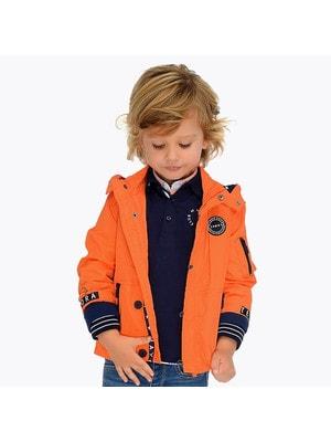 ОДЯГ Хлопчик Верхній Куртка, з капюшоном, Помаранчевий, Mayoral Іспанія, 19VL