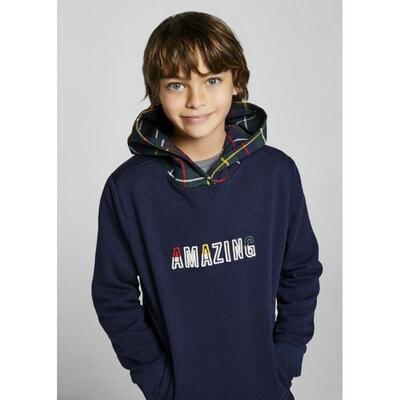 Пуловер, з капюшоном, утеплений, Темно-сірий, Mayoral Іспанія, 22OZ