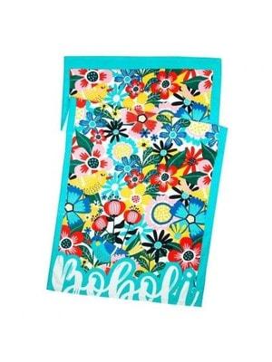 Рушник в квітах, Блакитний, BOBOLI Іспанія, 19VL