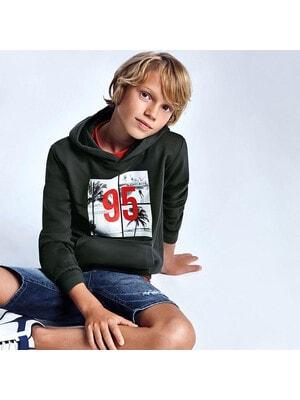 Пуловер, з капюшоном, Темно-сірий, Mayoral Іспанія, 21VL