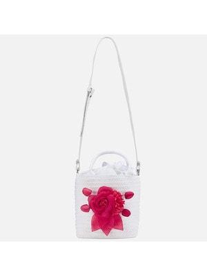 Сумка (розовый цветок), Белый, Mayoral Испания, 19VL
