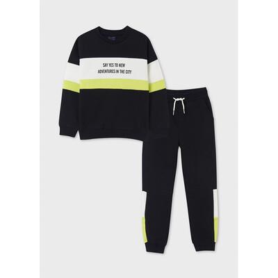 Комплект Спортивний, Пуловер + штани, утеплений, Чорний, Mayoral Іспанія, 22OZ