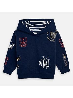 Пуловер, з капюшоном, Темно-синій, Mayoral Іспанія, 20VL