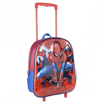 Сумка-рюкзак на колесах 3D SPIDERMAN (35х25х10) Cerda, Рожевий, Disney Іспанія, 21OZ