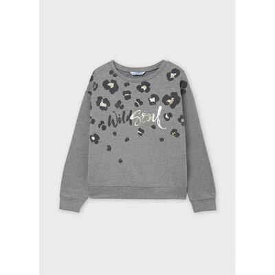Пуловер, утеплений, Сірий, Mayoral Іспанія, 22OZ
