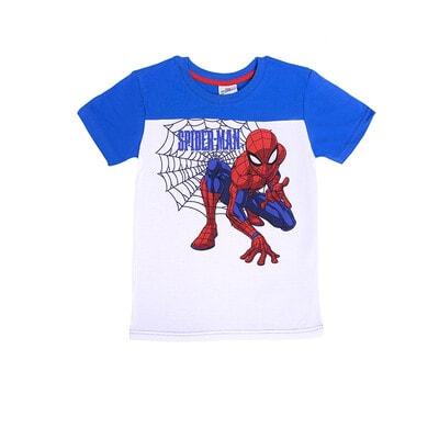 Футболка, сэр. Spider-Man белая вставка, Синий, Disney Польша, 21OZ