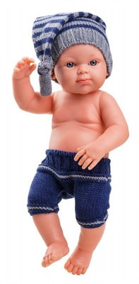 Іграшка Лялька Пупс, Хлопчик у в'язаних  штанцях 32см, Paola Reina Іспанія