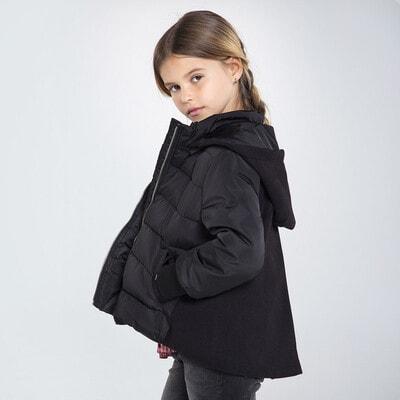 Куртка, з капюшоном, Чорний, Mayoral Іспанія, 21OZ