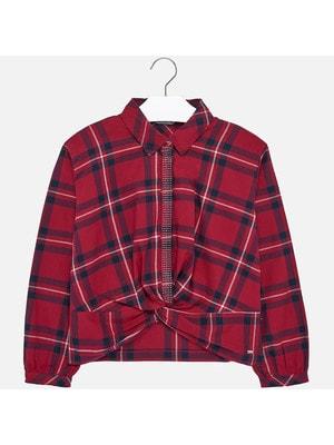 Блуза, довгий рукав (в клітину), Червоний, Mayoral Іспанія, 20OZ