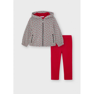 Комплект, Кофта + штани, Червоний, Mayoral Іспанія, 22OZ