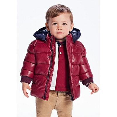 Куртка, з капюшоном, еврозима, Бордовий, Mayoral Іспанія, 22OZ